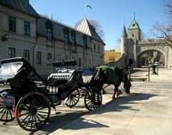 サン・ルイ門と馬車